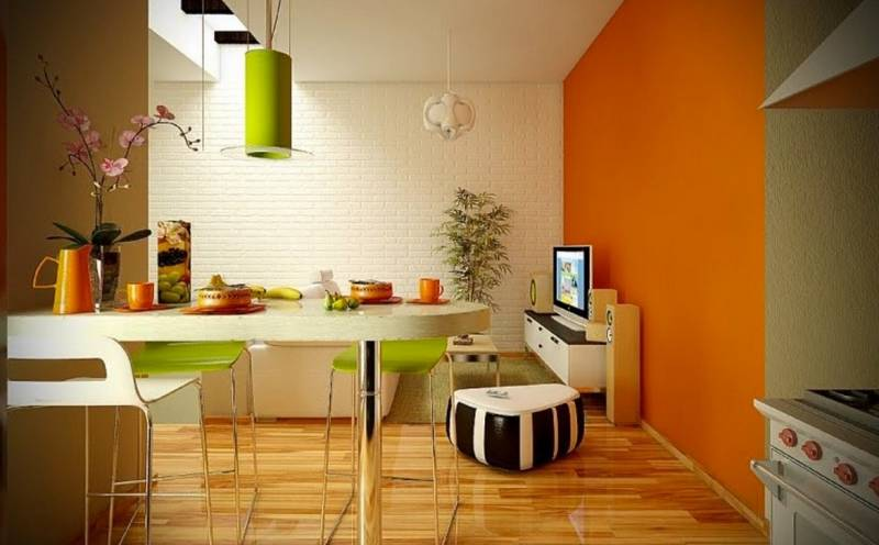 Etonnant Orange Green Idyll In The Kitchen
