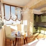 маленькая кухня совмещенная с балконом - увеличиваем пространство