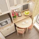 Дизайн маленькой кухни 5,5 кв м в конструктивном стиле фото
