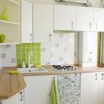 маленькие кухни с газовой колонкой