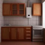 Маленькая кухня газовой колонкой дизайн