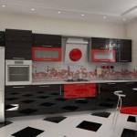 дизайн бело черной кухни
