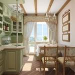 салатовая кухня в стиле прован