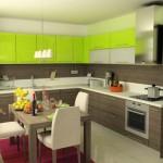 интерьер салатовая кухня