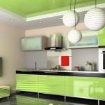 дизайн кухни салатовый цвет