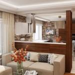 кухня-гостиная 30 кв м