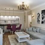 дизайн кухонь гостиных
