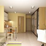 кухня гостиная 16 кв м