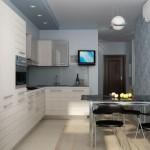 белая кухня 8 кв м