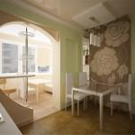 кухня объединена с балконом