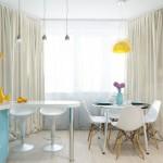 голубая кухня 9 кв м фото