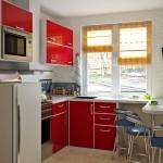 красная кухня 9 кв м