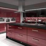 кухня красно черная фото