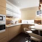 угловые кухни фото с барной стойкой