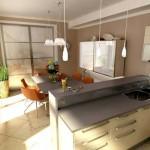 угловые кухни с барной стойкой в интерьере