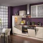 кухня фиолетово-бежевая