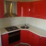 Дизайн кухни красного цвета 7,2 кв м