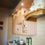 подсветка на маленькой кухне