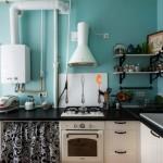 маленькая кухня газовая колонка