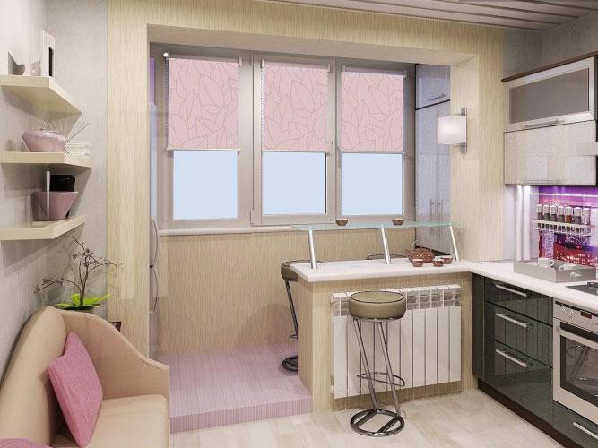 кухня на балконе фото дизайн 5