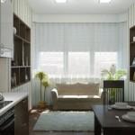 современные идеи кухня 12 кв м с диваном