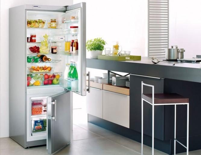 дизайн кухни 6 кв метров с холодильником