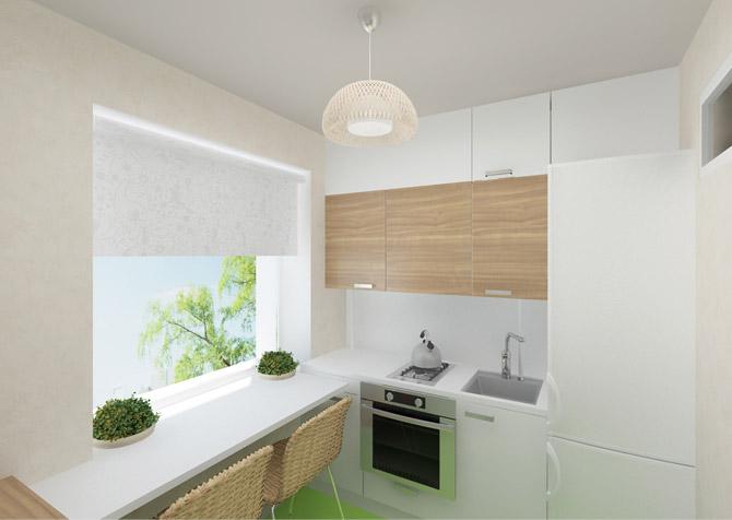 кухня 5 кв м дизайн фото 3