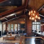 Дизайн гостиной, совмещенной с кухней в частном доме