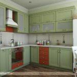 зеленый цвет кухни в стиле прованс