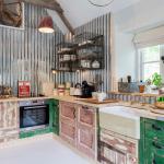 дизайн кухни профнастил 2